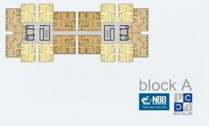Mặt bằng Block A dự án NBB Garden III
