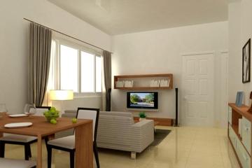 Phòng khách căn hộ NBB Garden 3