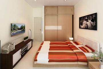 Phòng ngủ căn hộ A1 dự án NBB Garden 3