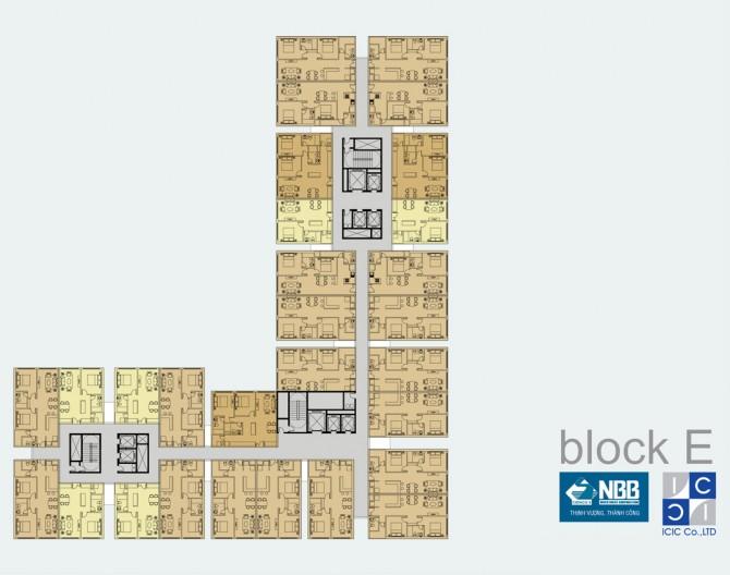 Block E của tòa căn hộ