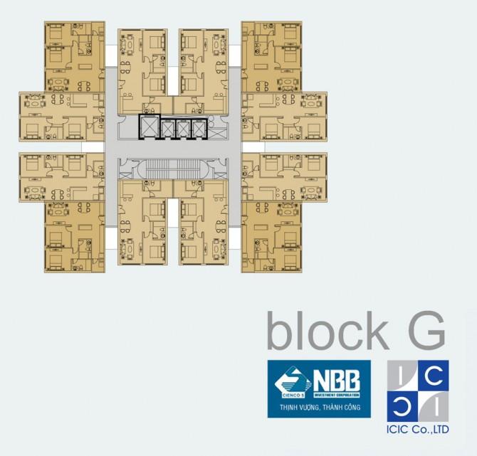 Mặt bằng Block G dự án NBB Garden 3