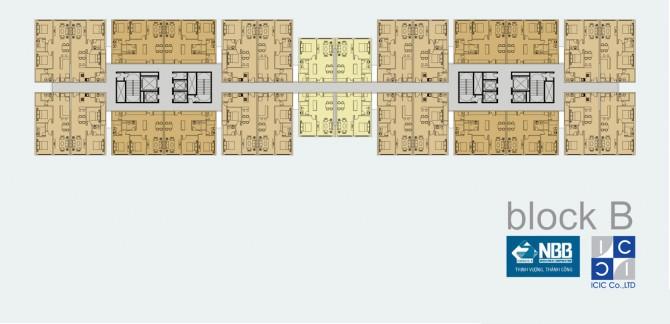Mặt bằng Block B dự án NBB Garden 3